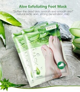 Пилинг для ног Алоэ, Peeling Exfoliating Foot Mask, EFERO