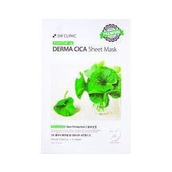 Маска тканевая для лица с экстрактом центеллы 3W CLINIC ESSENTIAL UP DERMA CICA SHEET MASK